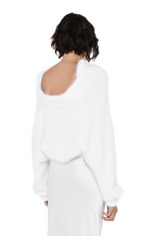 ALBERTA FERRETTI BOTTLENECK WHITE SWEATER Jumper D d