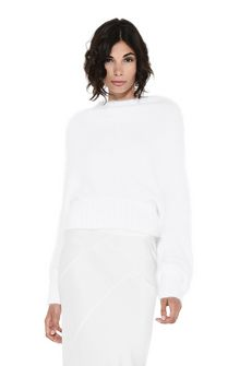ALBERTA FERRETTI BOTTLENECK WHITE SWEATER Jumper D r
