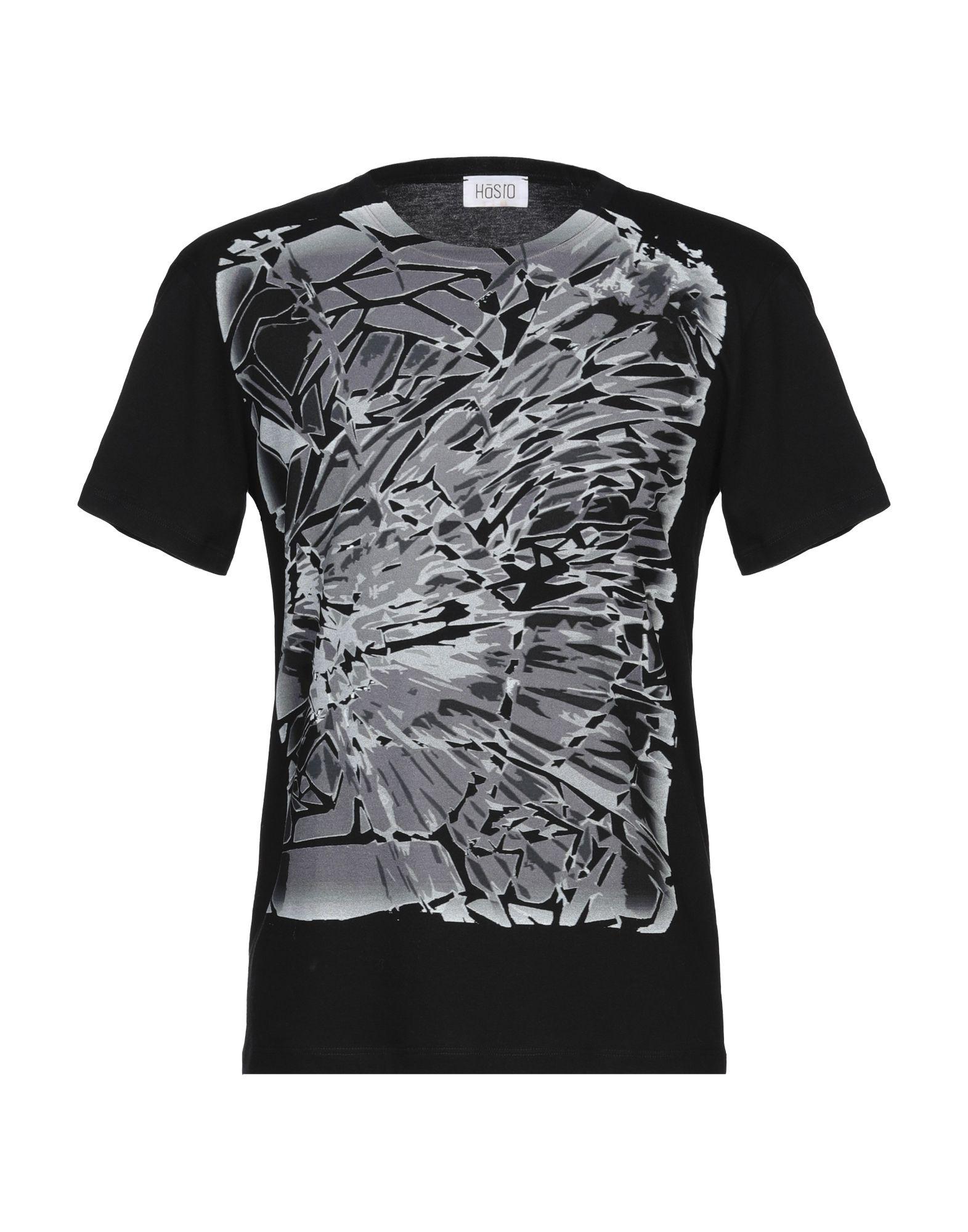《セール開催中》H?SIO メンズ T シャツ ブラック S コットン 100%