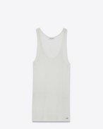 SAINT LAURENT T-Shirt and Jersey U Tank top in ivory jersey f