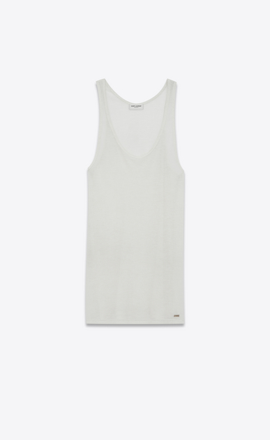 SAINT LAURENT T-Shirt and Jersey Man Tank top in ivory jersey a_V4