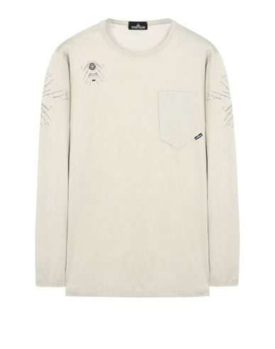 20210 PRINTED LS CATCH POCKET-T (MAKO JERSEY) GARMENT DYED
