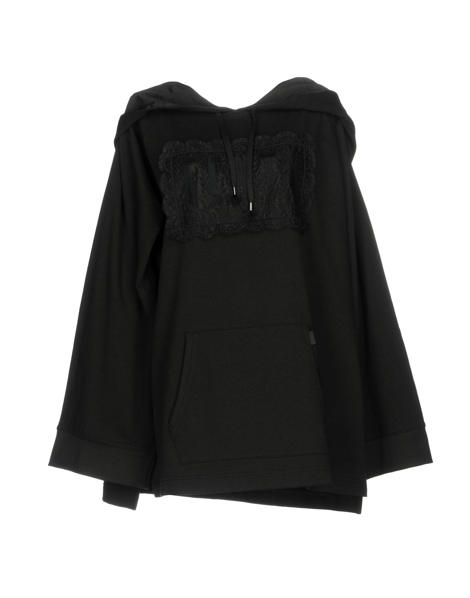 《セール開催中》FENTY PUMA by RIHANNA レディース スウェットシャツ ブラック 8 78% コットン 17% ポリエステル 5% ポリウレタン FLEECE OFF SHOULDER HOODIE