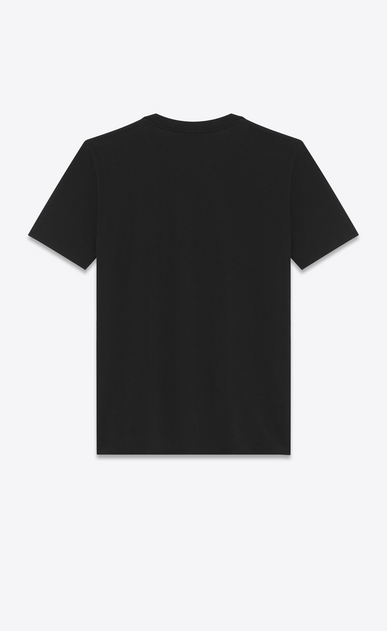 SAINT LAURENT T-Shirt and Jersey D Boyfriend T-shirt with short sleeves, a round neck and Y embroidery in black cotton jersey b_V4