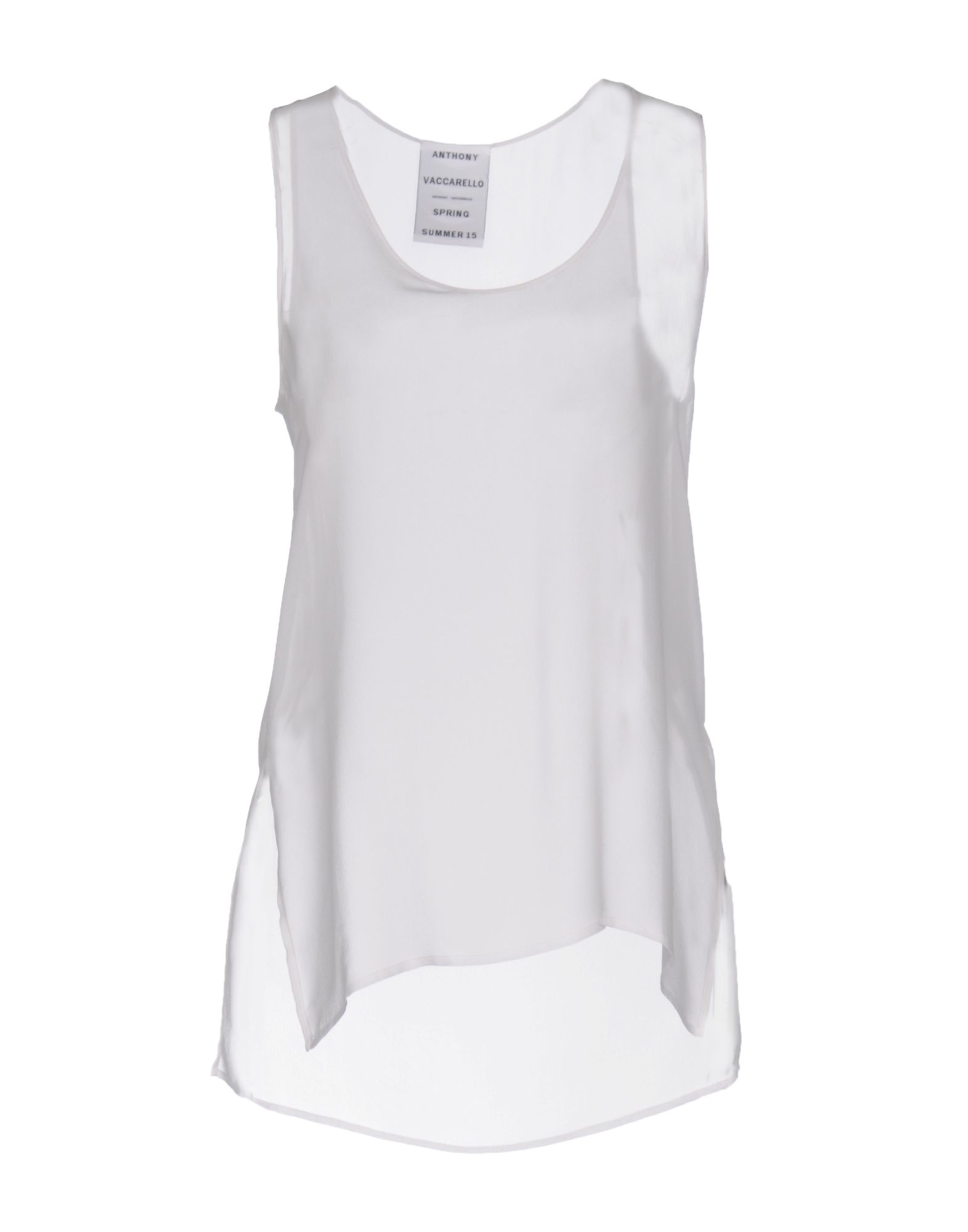 ANTHONY VACCARELLO Silk Top in White