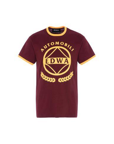 Фото - Женскую футболку EDWA красно-коричневого цвета