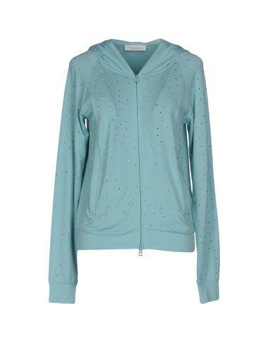 TWIN-SET LINGERIE Sweat-shirt femme. jersey, logo, strass, uni, col rond, manches longues, fermeture sur l'avant, fermeture avec fermeture écla