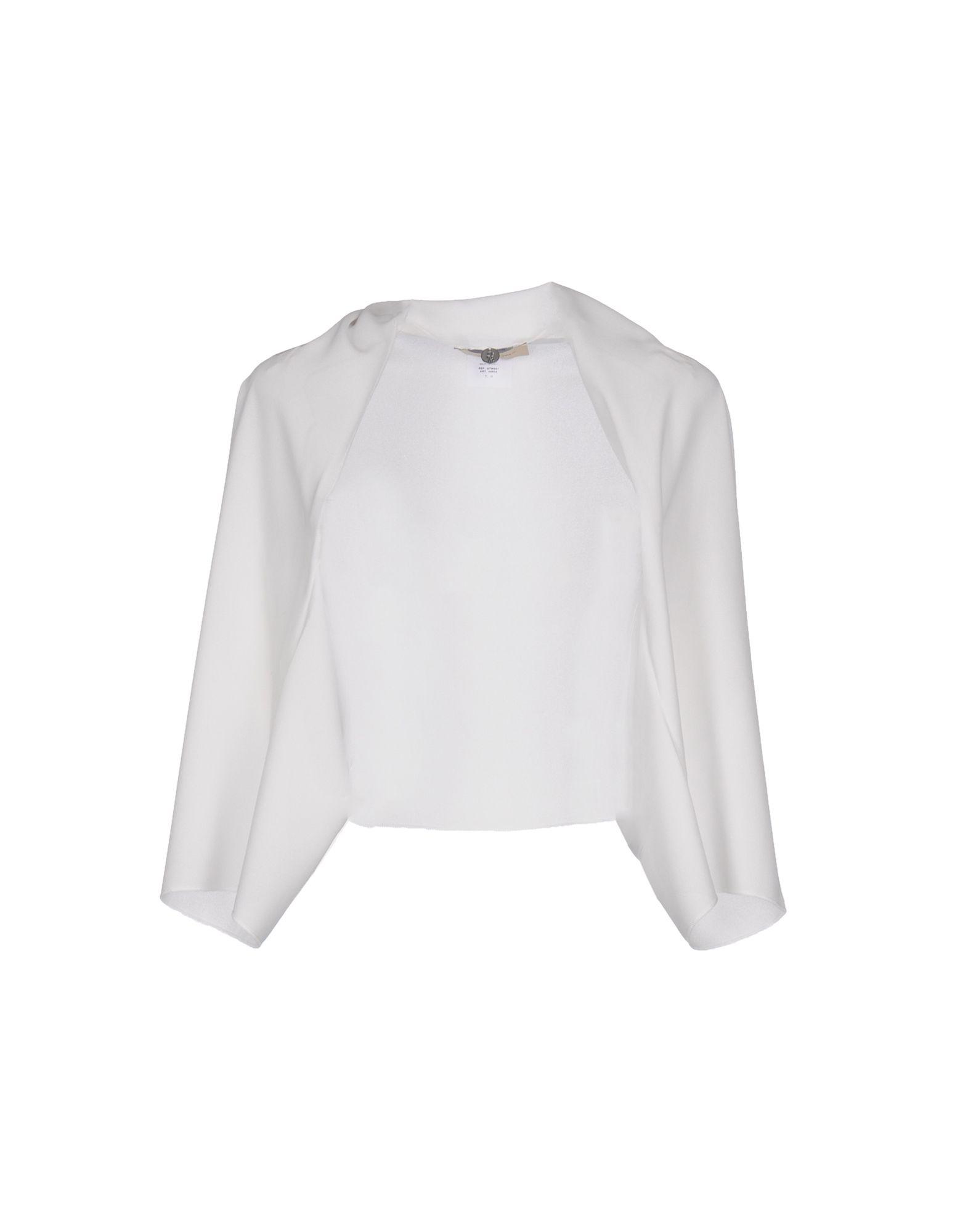 JUST FOR YOU Damen Bolero Farbe Weiß Größe 1