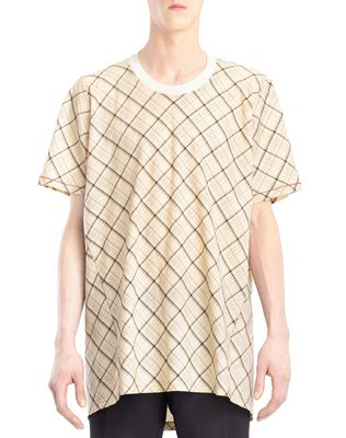 LONG CHECKERED T-SHIRT