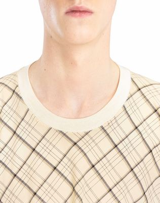 LANVIN LONG PLAID T-SHIRT Polos & T-Shirts U a