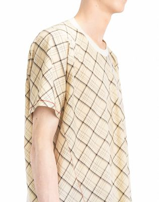 LANVIN LONG PLAID T-SHIRT Polos & T-Shirts U b