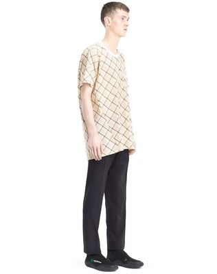 LANVIN LONG PLAID T-SHIRT Polos & T-Shirts U e