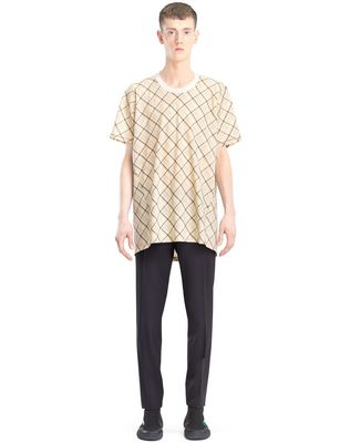 LANVIN LONG PLAID T-SHIRT Polos & T-Shirts U r