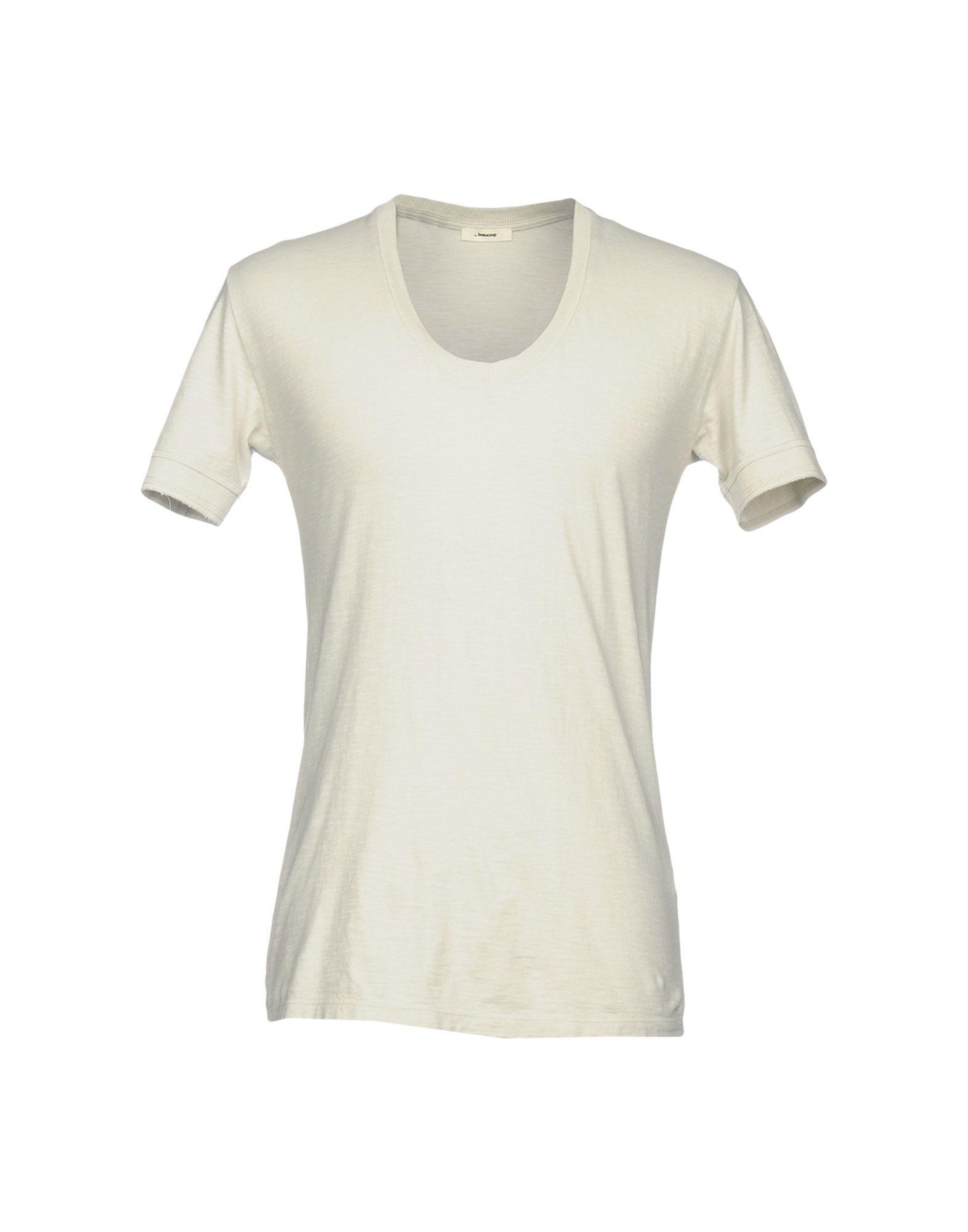 《送料無料》,BEAUCOUP メンズ T シャツ ライトグレー S コットン 100%