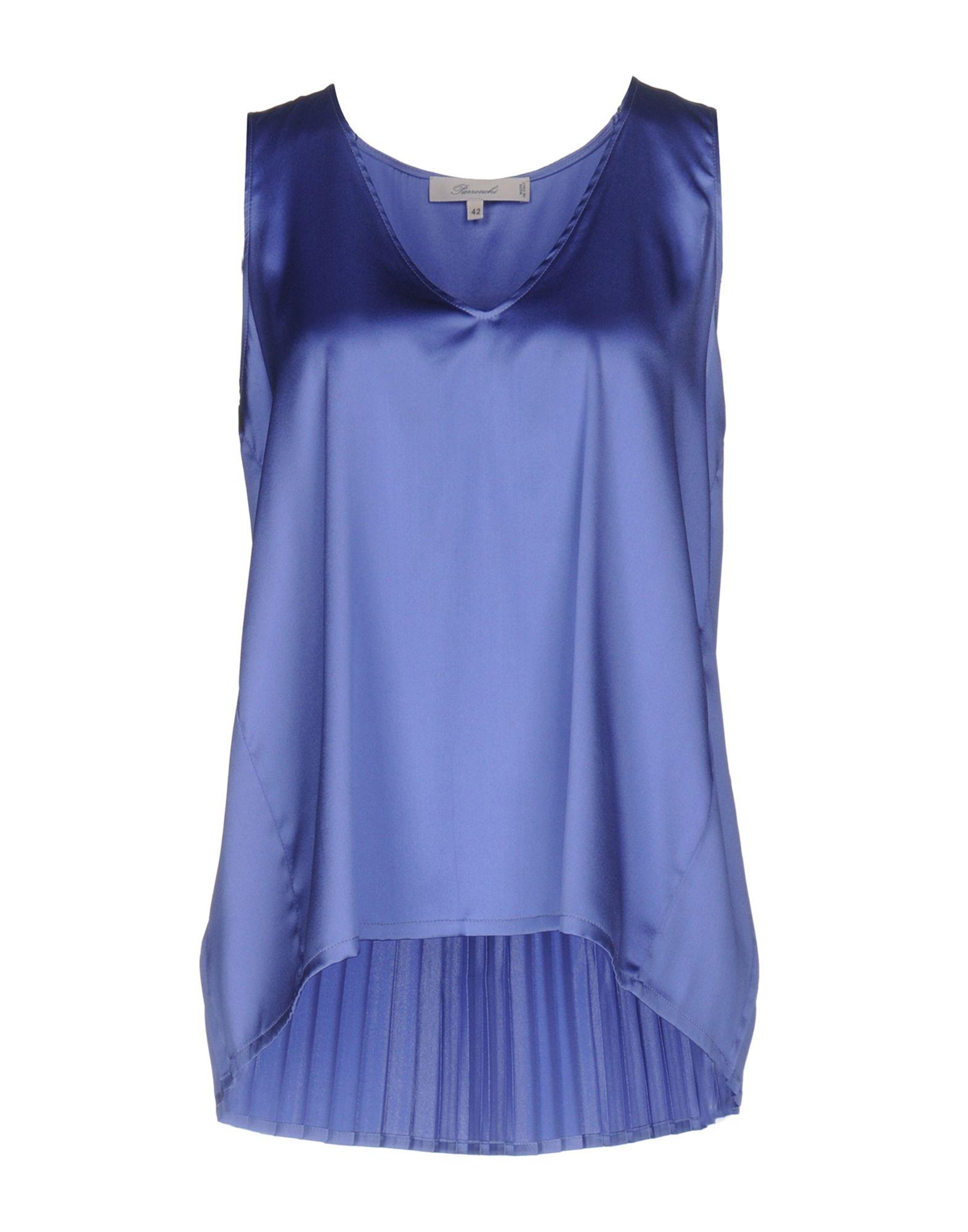 PARRONCHI Evening Top in Pastel Blue