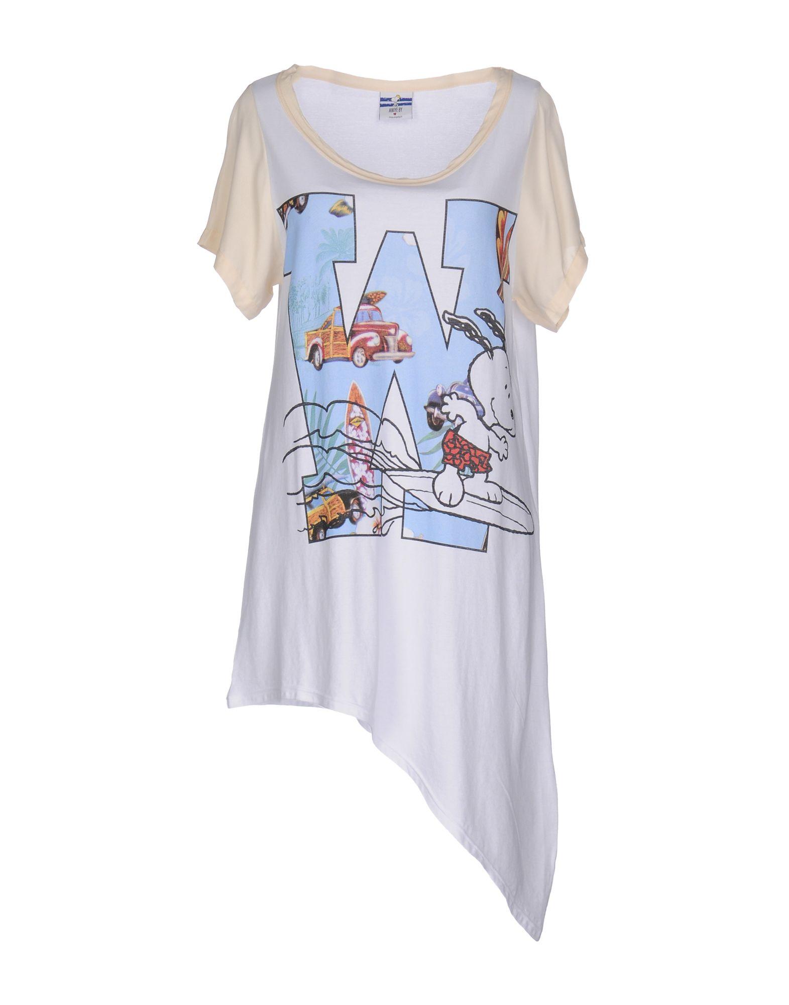 ANIYE BY Damen T-shirts Farbe Weiß Größe 6