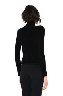 ALBERTA FERRETTI Black sweater with winged lion Sweater Woman d