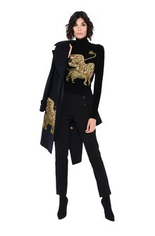 ALBERTA FERRETTI Black sweater with winged lion Sweater D f