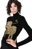 ALBERTA FERRETTI Black sweater with winged lion Sweater Woman a