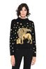 ALBERTA FERRETTI Blue sweater with winged lion Jumper Woman r
