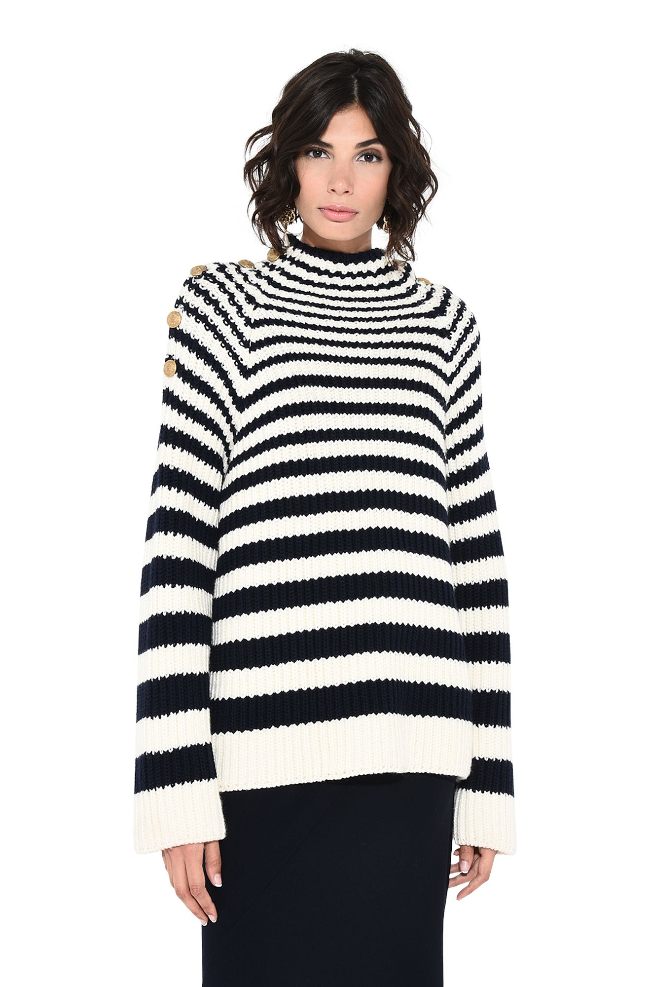 ALBERTA FERRETTI Sweater D Sweater with horizontal stripes r