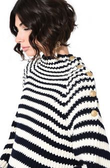 ALBERTA FERRETTI Sweater with horizontal stripes Jumper Woman a