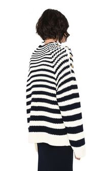 ALBERTA FERRETTI Sweater with horizontal stripes Jumper Woman d
