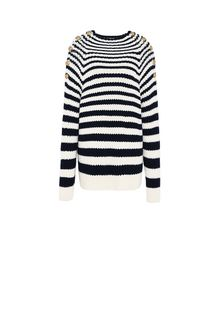 ALBERTA FERRETTI Sweater with horizontal stripes Jumper Woman e