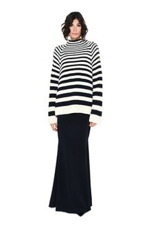 ALBERTA FERRETTI Sweater with horizontal stripes Jumper Woman f