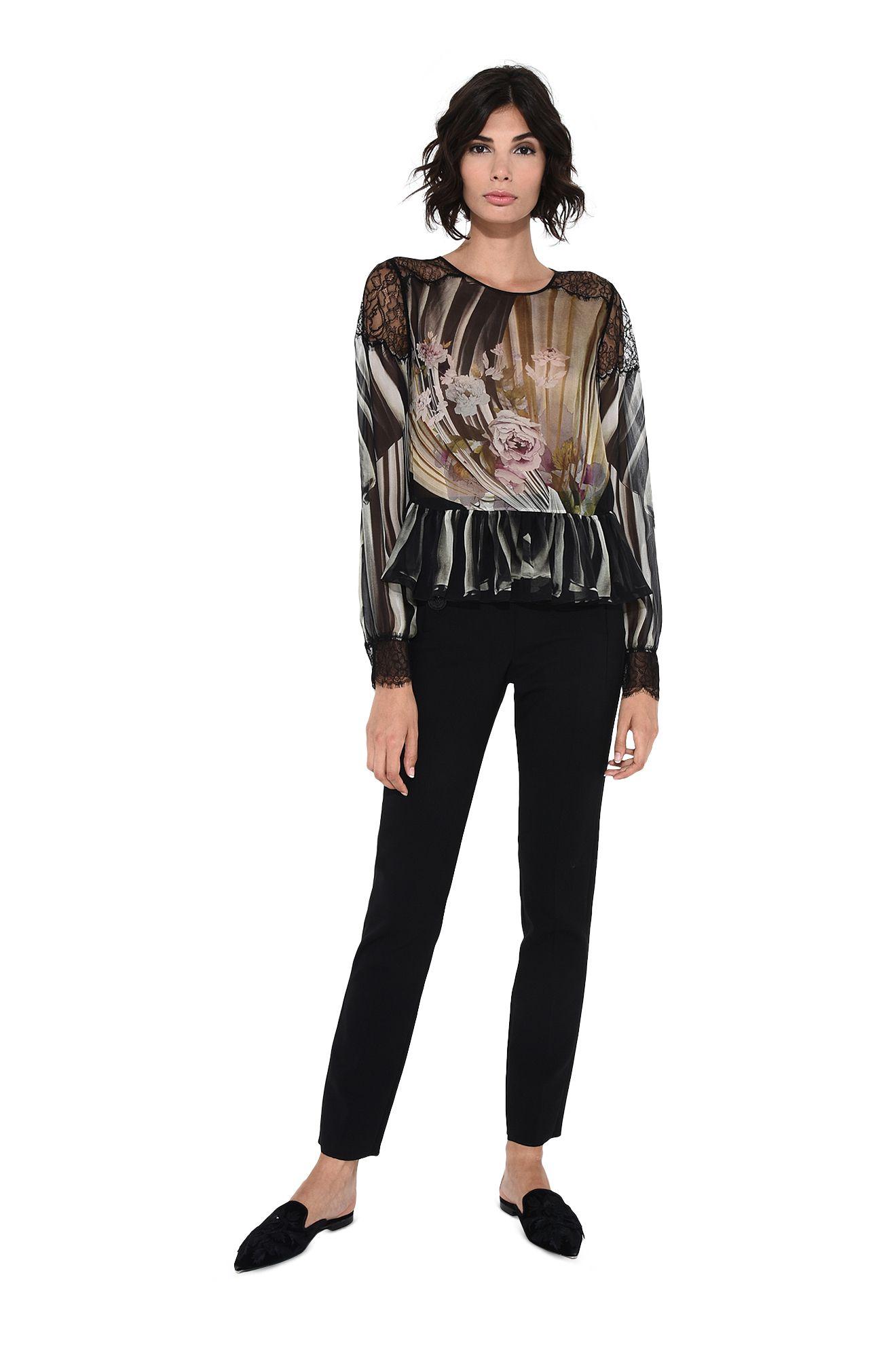 Floral motif blouse