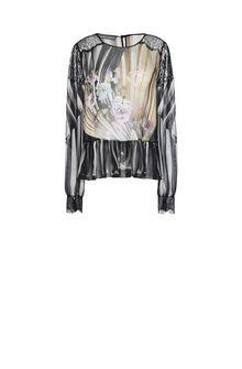 ALBERTA FERRETTI Floral motif blouse Blouse D e