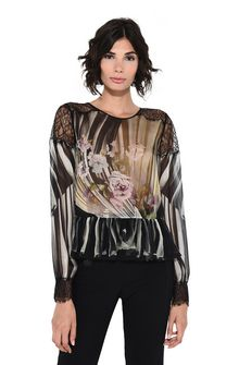 ALBERTA FERRETTI Floral motif blouse Blouse D r