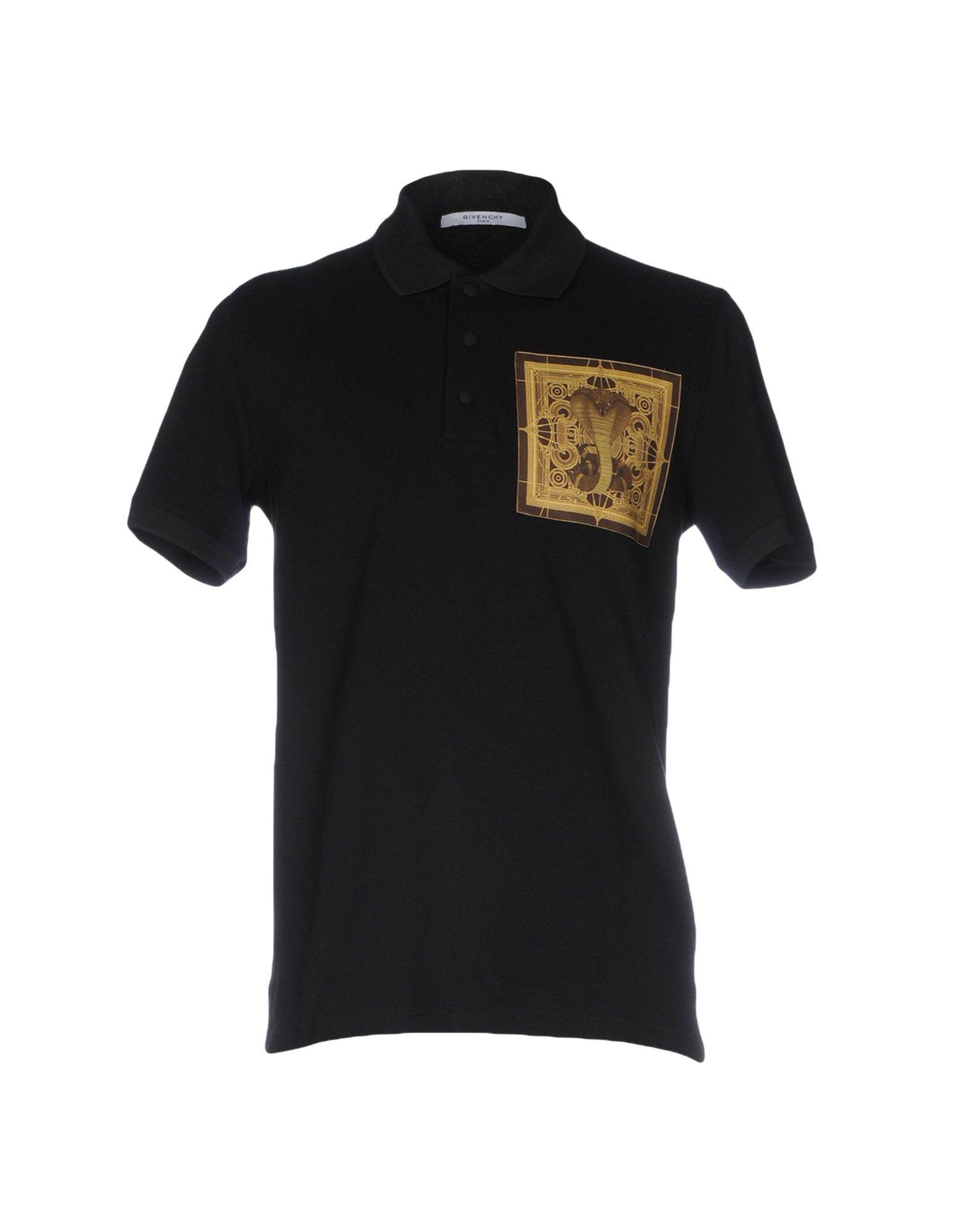 《送料無料》GIVENCHY メンズ ポロシャツ ブラック L コットン 100%