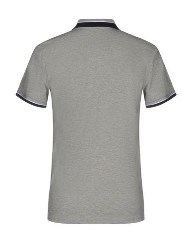 Фото 2 - Мужское поло  серого цвета