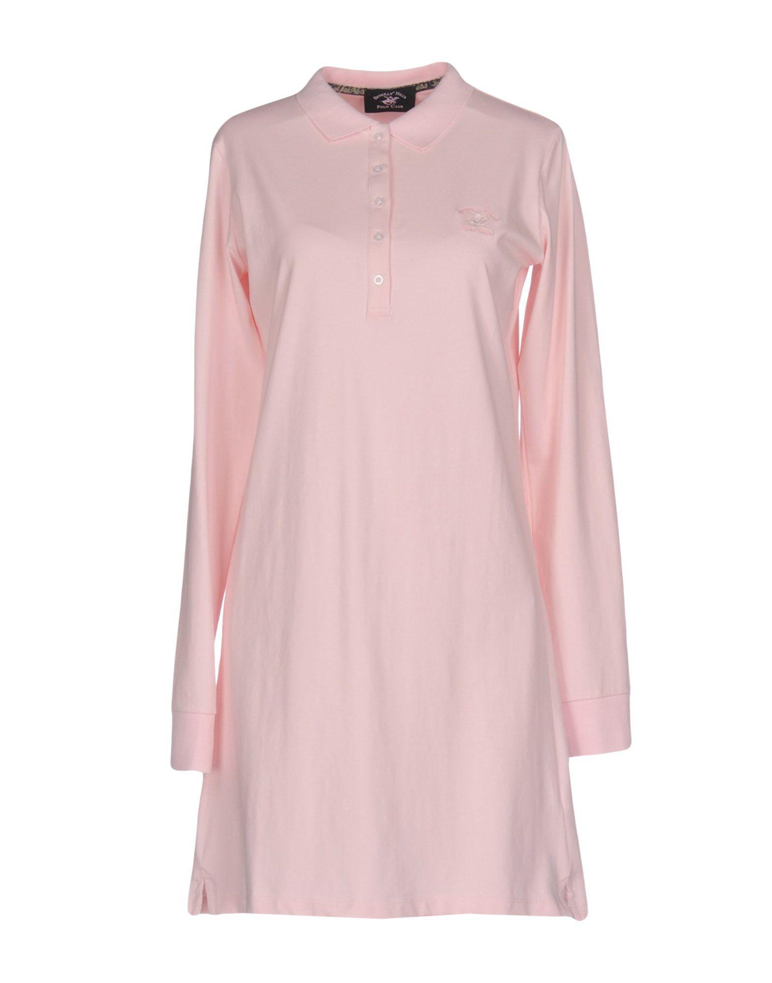 BEVERLY HILLS POLO CLUB Damen Kurzes Kleid Farbe Rosa Größe 6