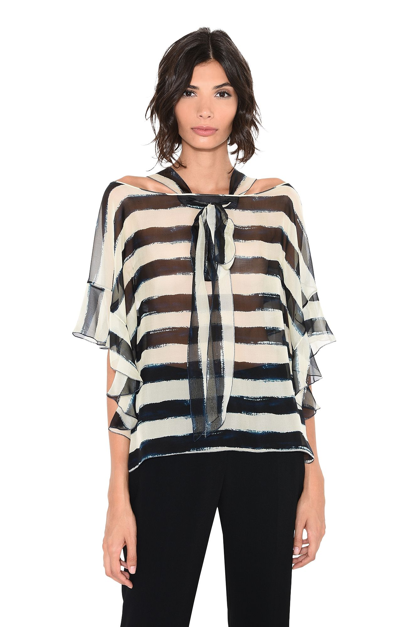 ALBERTA FERRETTI Jumper D Sweater with horizontal stripes r