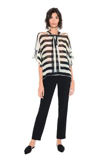 ALBERTA FERRETTI Striped blouse Blouse Woman f
