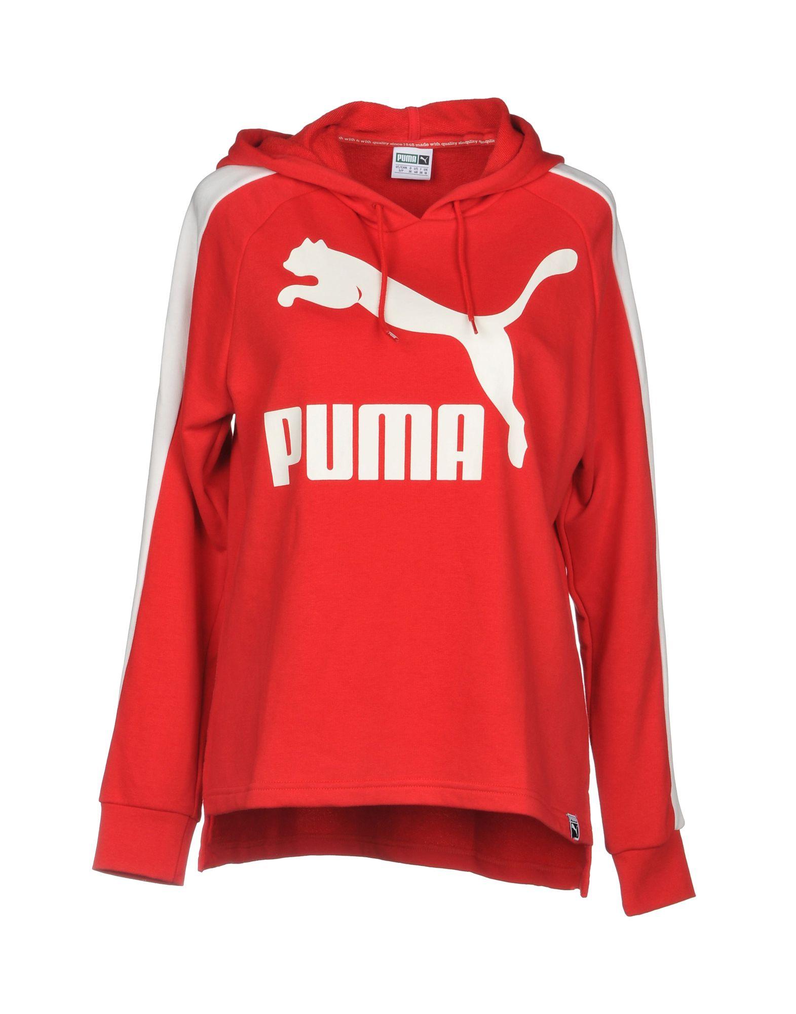 PUMA Damen Sweatshirt3 rot