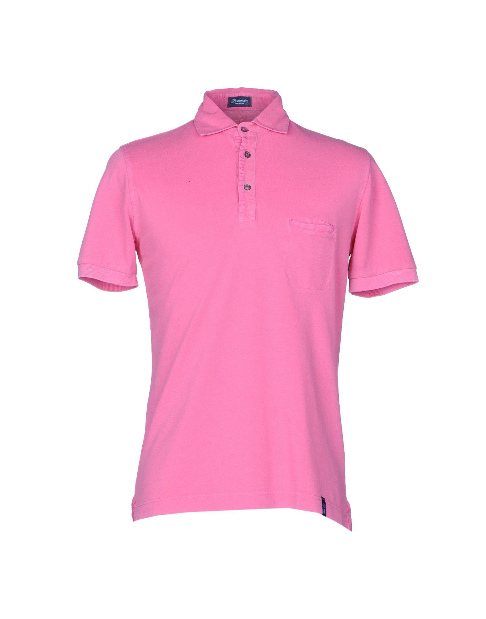 《送料無料》DRUMOHR メンズ ポロシャツ ピンク S コットン 100%