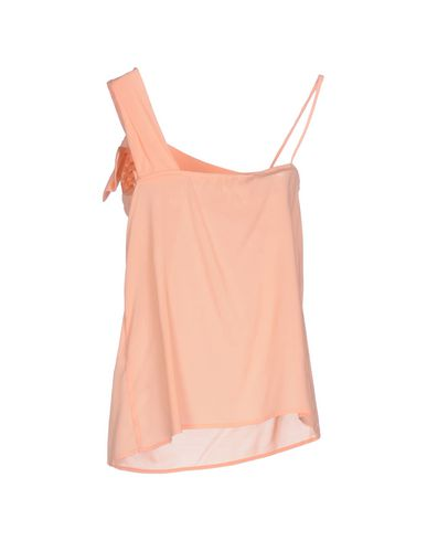 Фото 2 - Топ без рукавов лососево-розового цвета