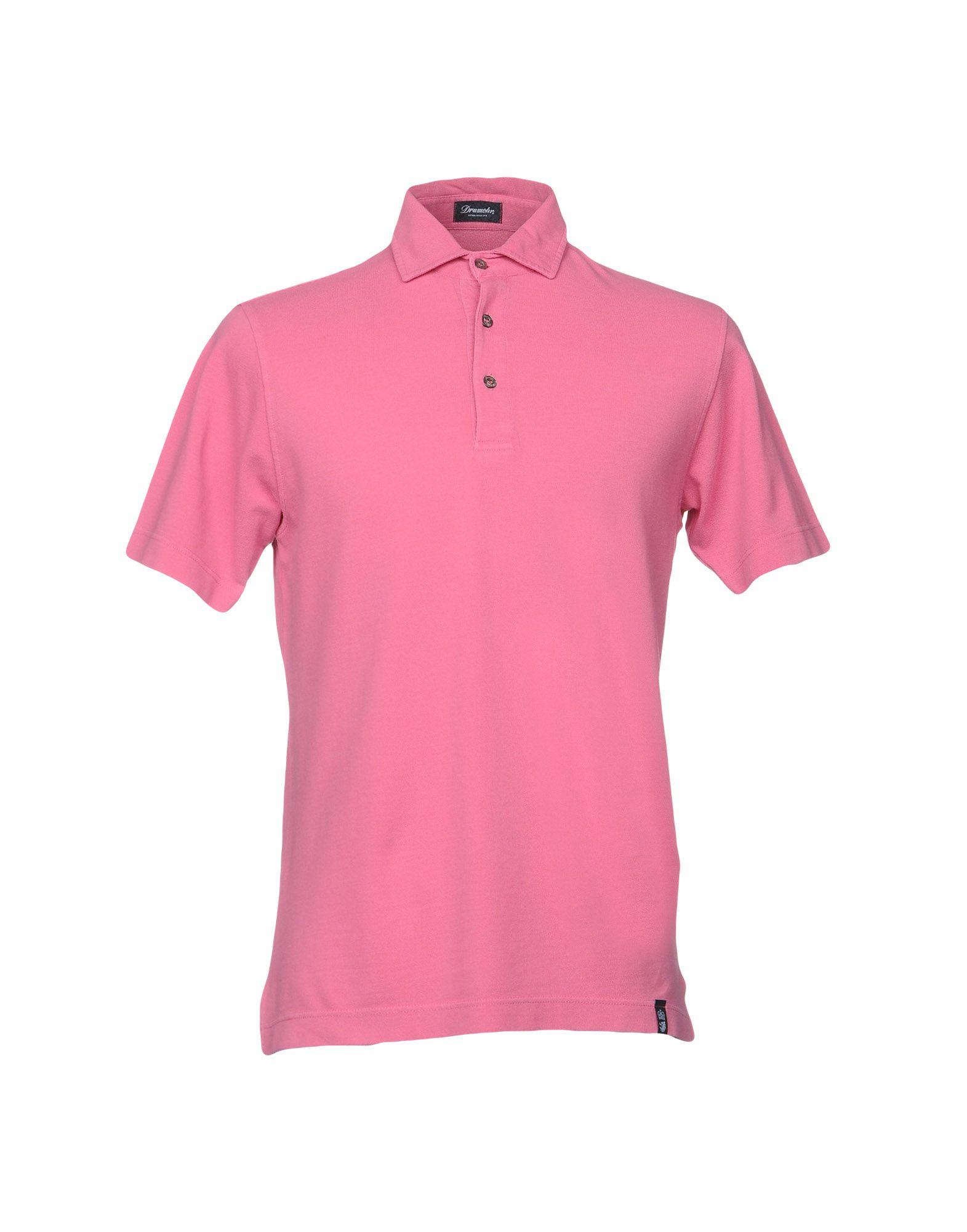 《送料無料》DRUMOHR メンズ ポロシャツ パステルピンク S コットン 100%