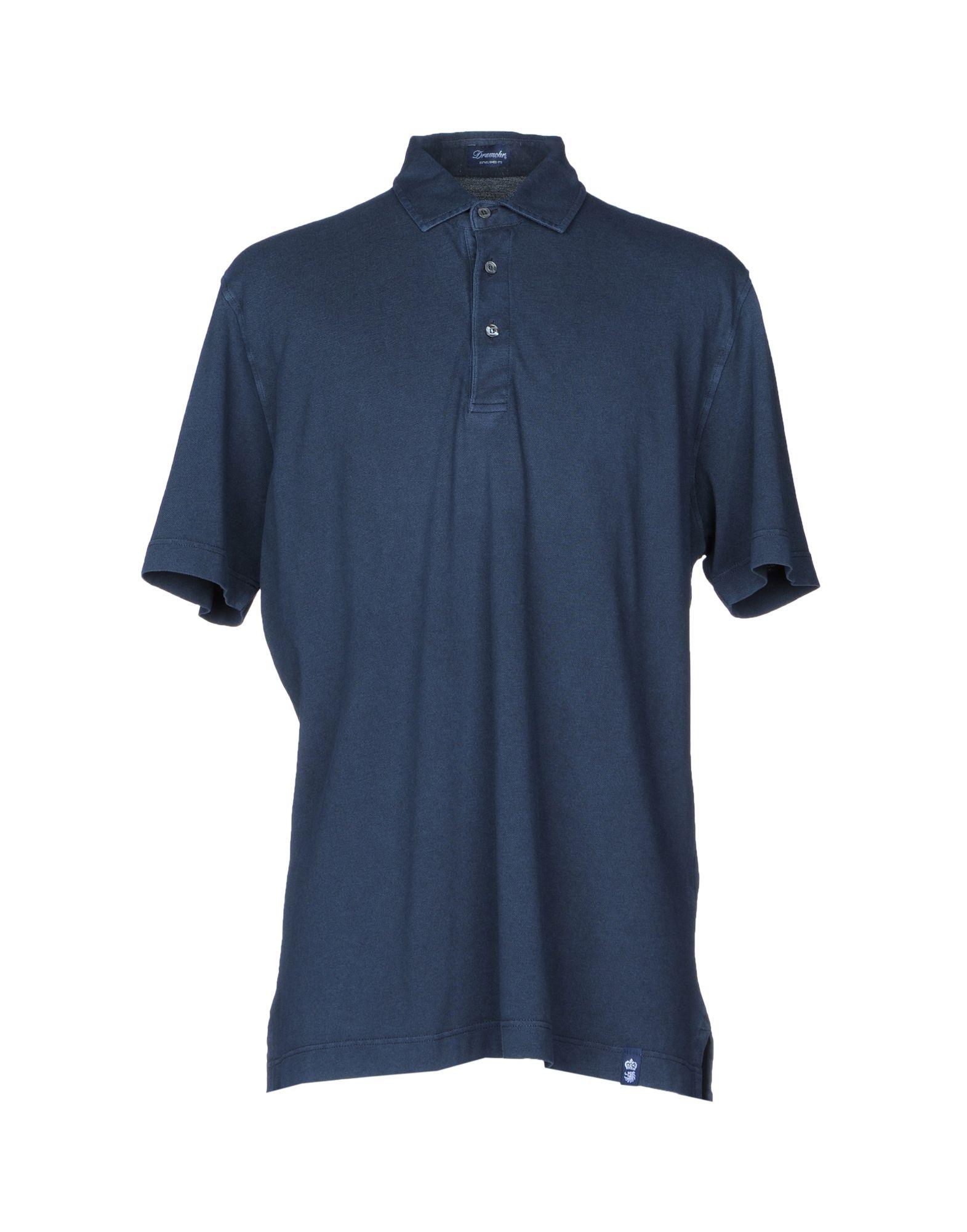 《送料無料》DRUMOHR メンズ ポロシャツ ダークブルー XXS コットン 100%