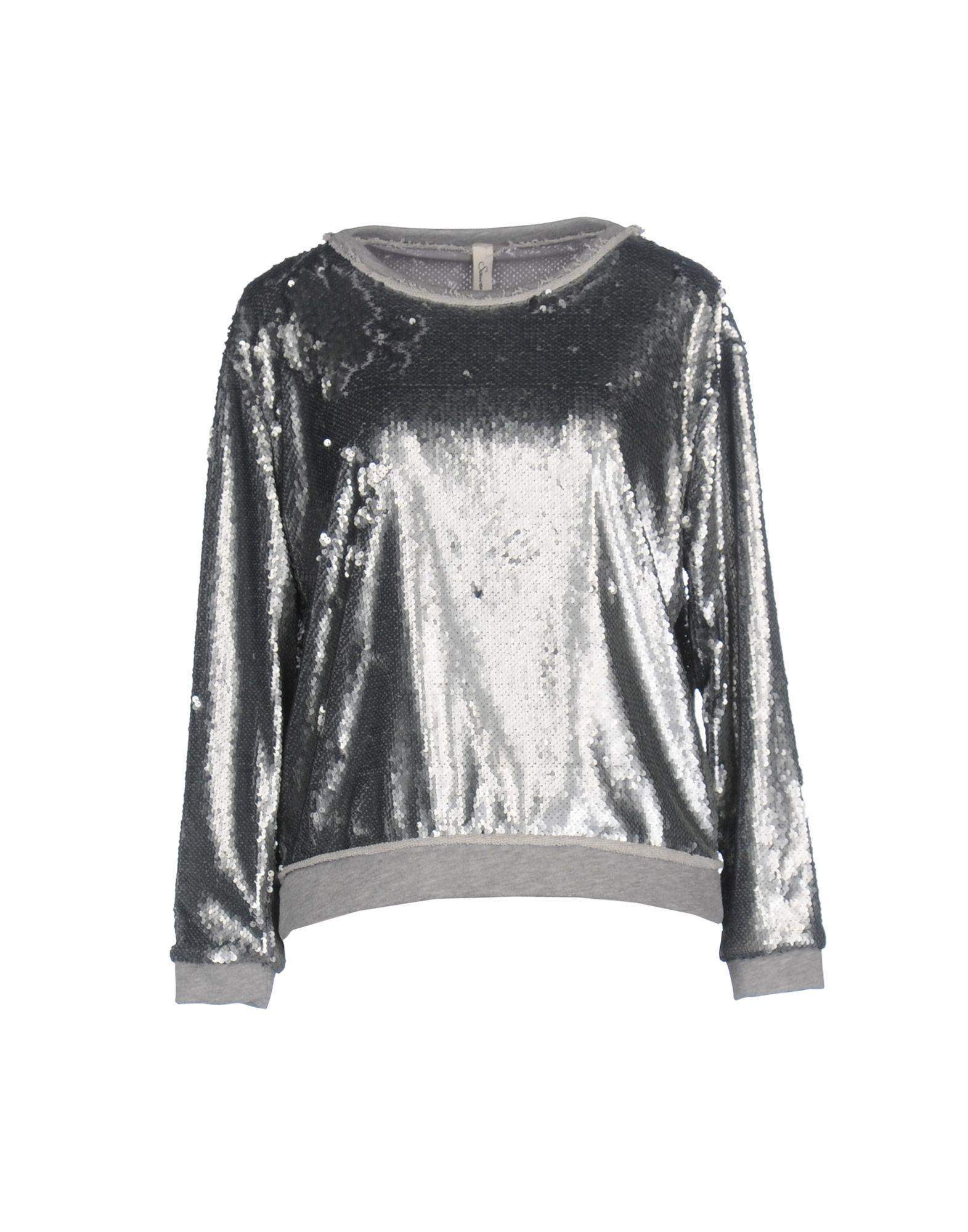 SOUVENIR Damen Sweatshirt Farbe Silber Größe 5 jetztbilligerkaufen