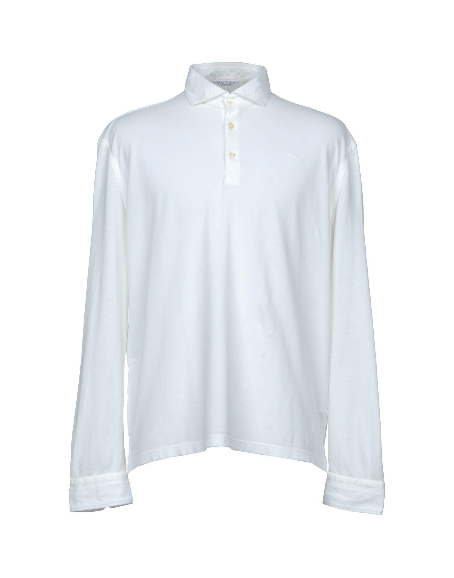 GRAN SASSO Herren Poloshirt Farbe Weiß Größe 7 jetztbilligerkaufen