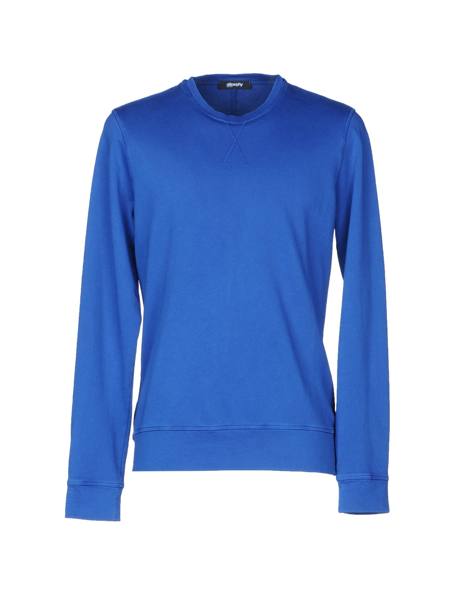 《送料無料》STILOSOPHY INDUSTRY メンズ スウェットシャツ ブルー M コットン 100%