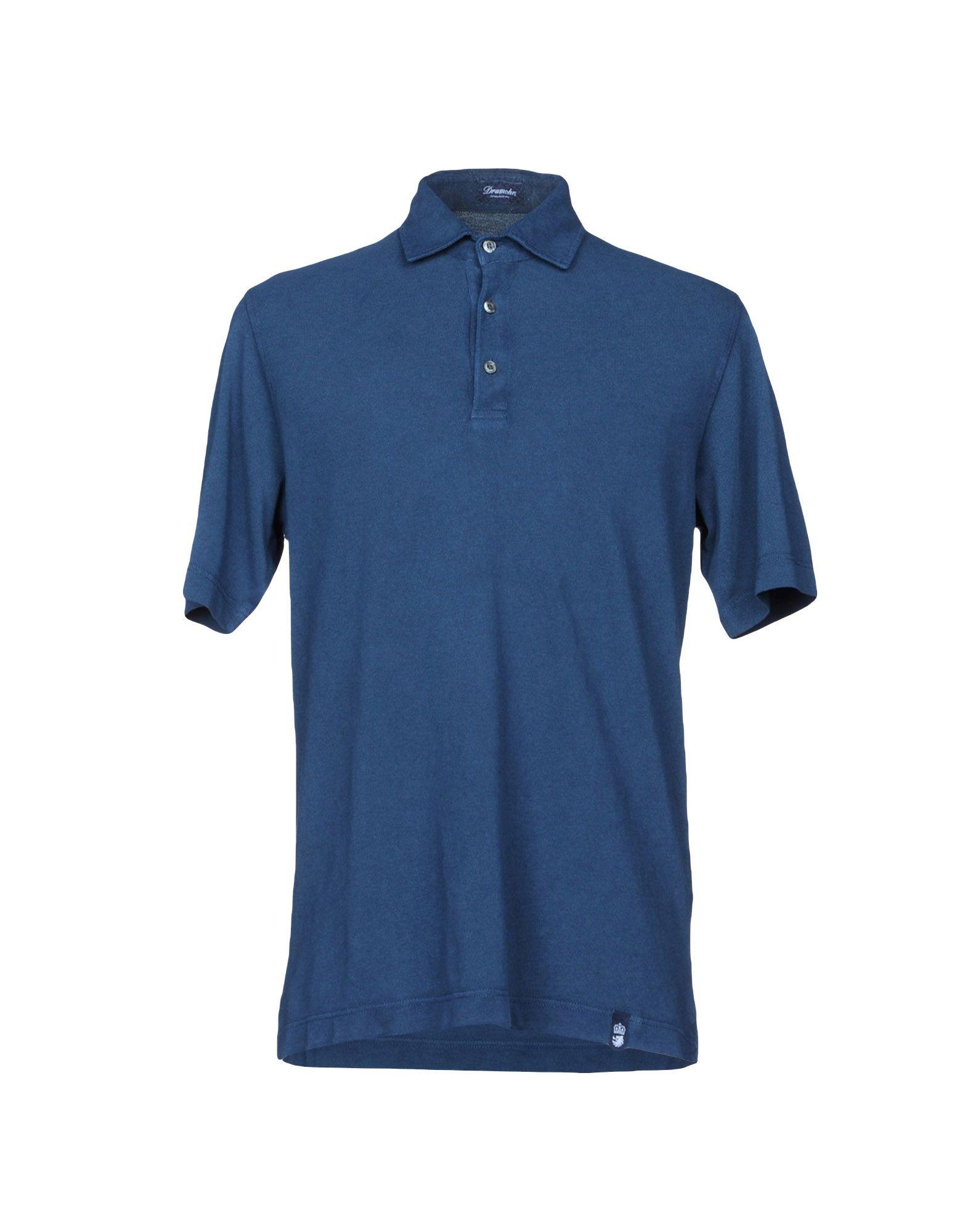 《送料無料》DRUMOHR メンズ ポロシャツ ブルー XS コットン 100%