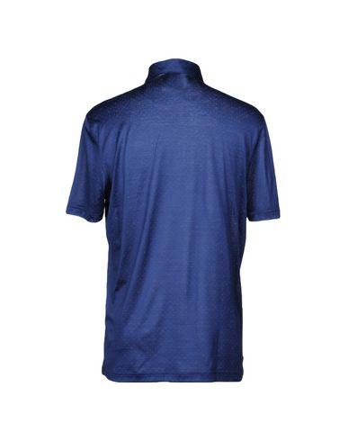 Фото 2 - Мужское поло GRAN SASSO темно-синего цвета