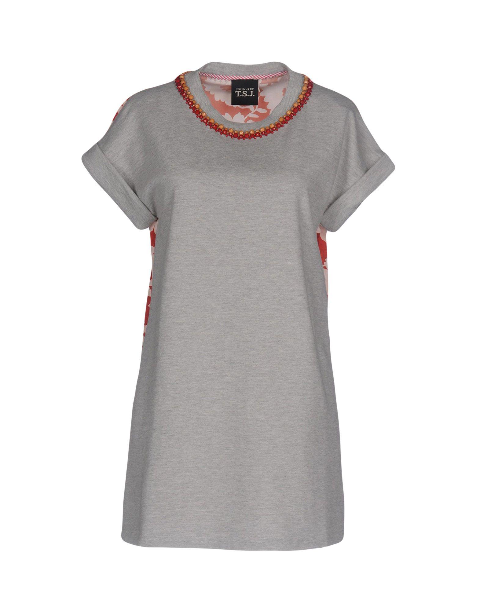 TWIN-SET JEANS Sweatshirt in Grey