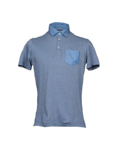 BAGUTTA メンズ ポロシャツ ブルー M コットン 100%