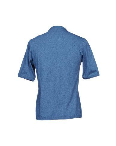 Фото 2 - Женскую футболку CAMO синего цвета